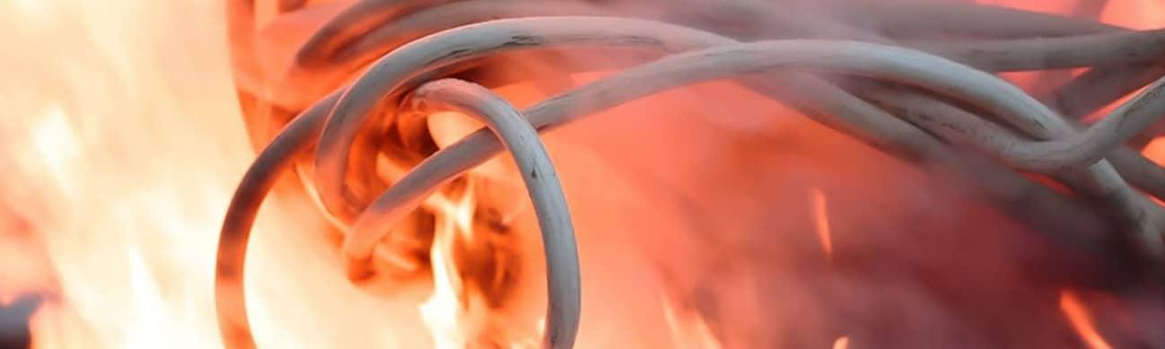 proteger cables del fuego