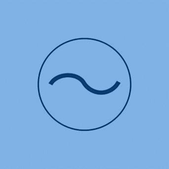 simbolo de corriente alterna